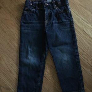 straight style Jeans, push button w/zipper, Sz 4t
